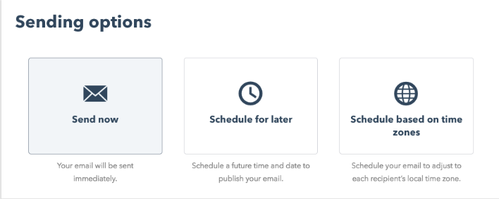 hubspot's marketing email schedule