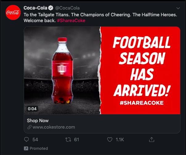 Cocoa Cola social ad