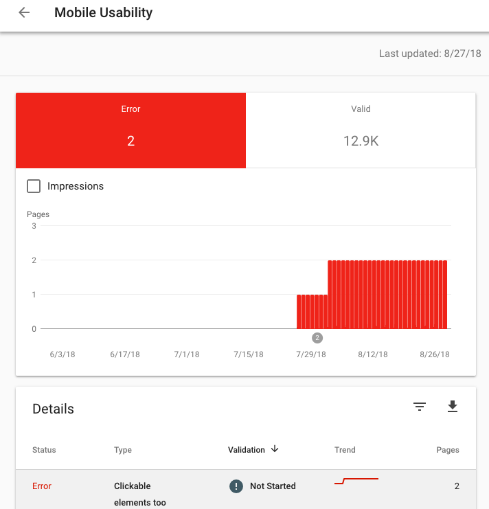 mobile usability in google search console