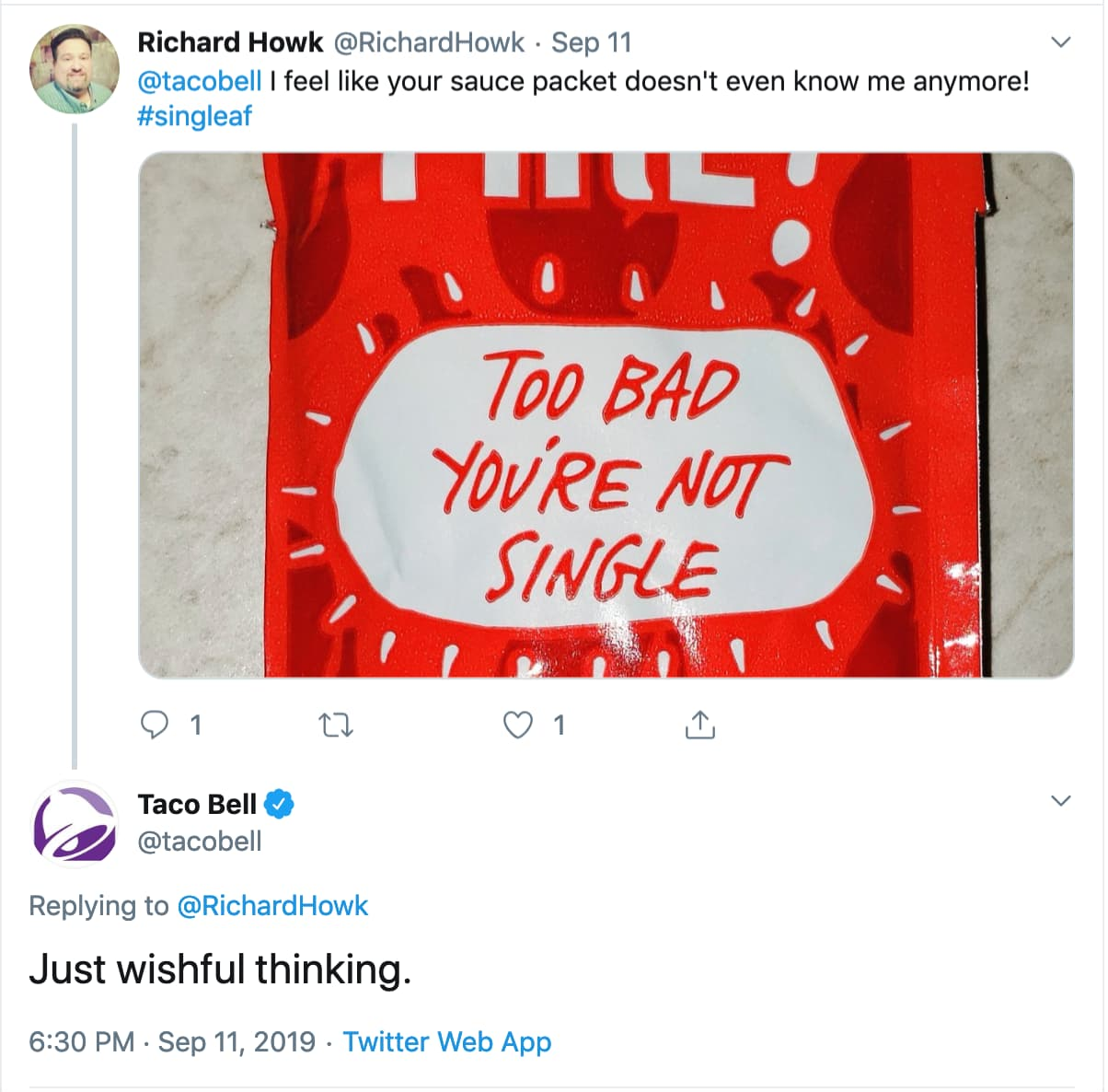 Taco Bell maintains brand on Twitter.