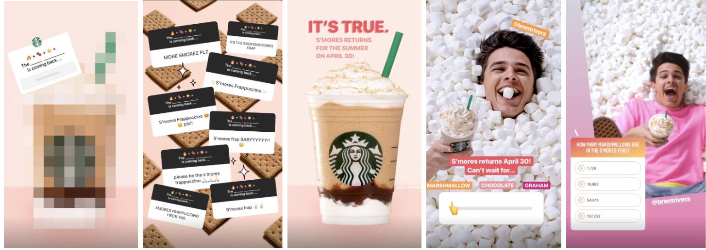 Starbucks Instagram Story