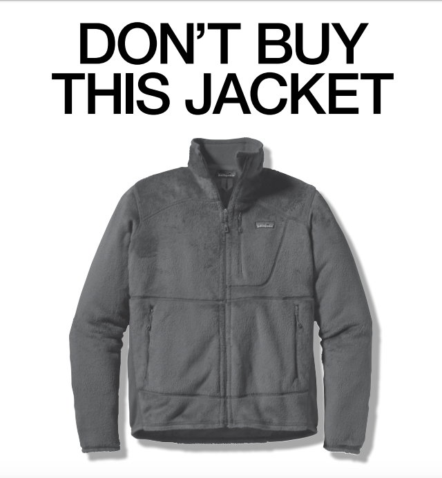 Patagonia Don't Buy This ad