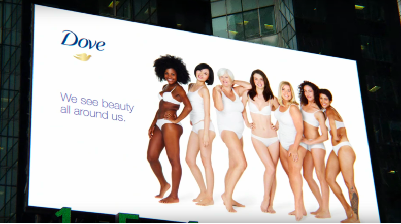 Dove body positivity billboard