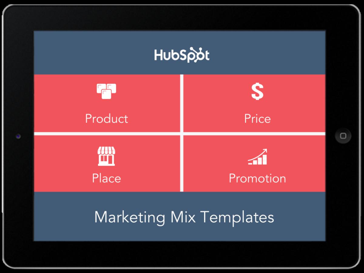 Marketing Mix Templates