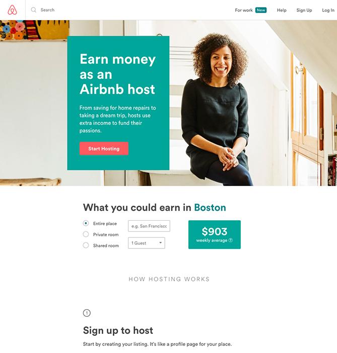 Trang đích đăng ký Airbnb