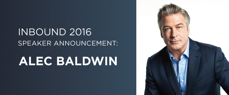 Actor, Producer, and Podcast Host Alec Baldwin Joins #INBOUND16's Keynote Lineup
