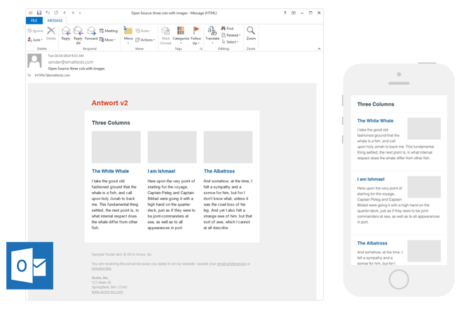 Antwort Email Newsletter Templates