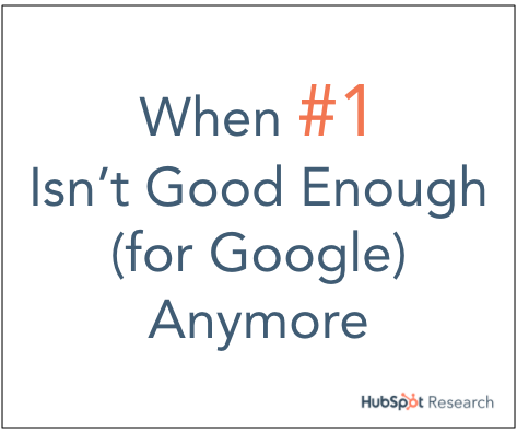 When #1 Isn't Good Enough (for Google) Anymore
