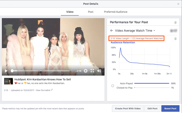 average precent watched.png  How to Understand Facebook Insights for Social Video average 20precent 20watched