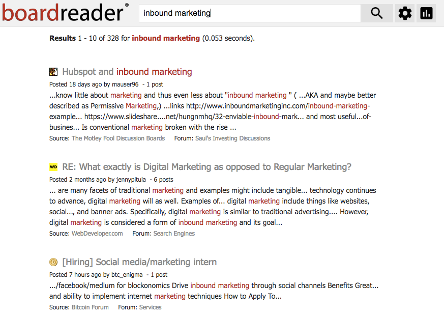boardreader-example.png  12 Free Social Media and Brand Monitoring Tools We Love (and Why) boardreader example