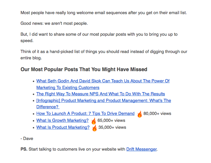 7 great examples of welcome emails to inspire your own strategy 7 drift stopboris Image collections