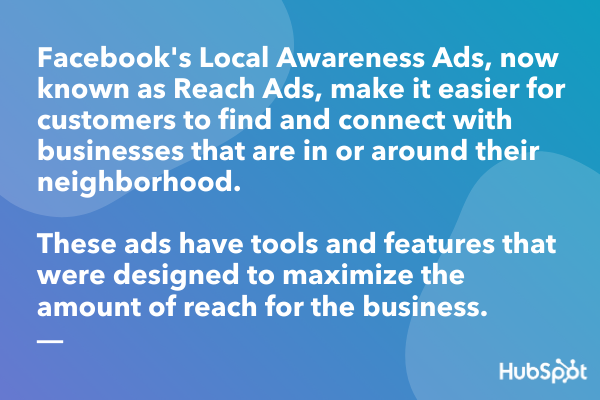 Facebook Local Awareness Ads definition