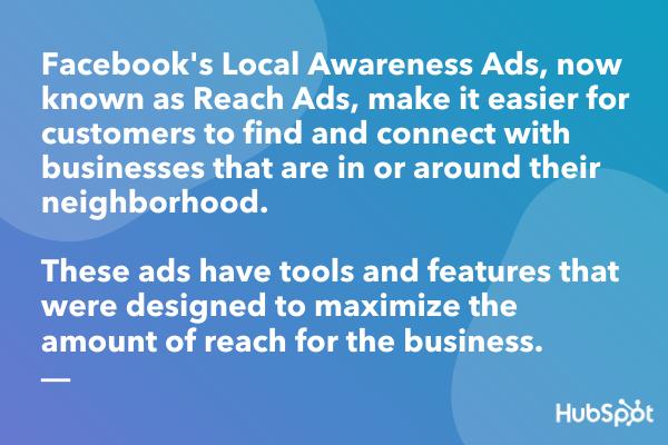 Facebook本地意识广告定义