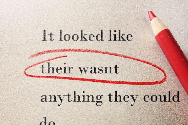 most common grammatical errors