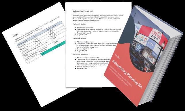 advertising plan kit template download free