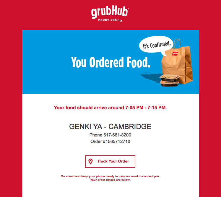 12 different types of marketing email you could be sending grubhub confirmation emailg maxwellsz