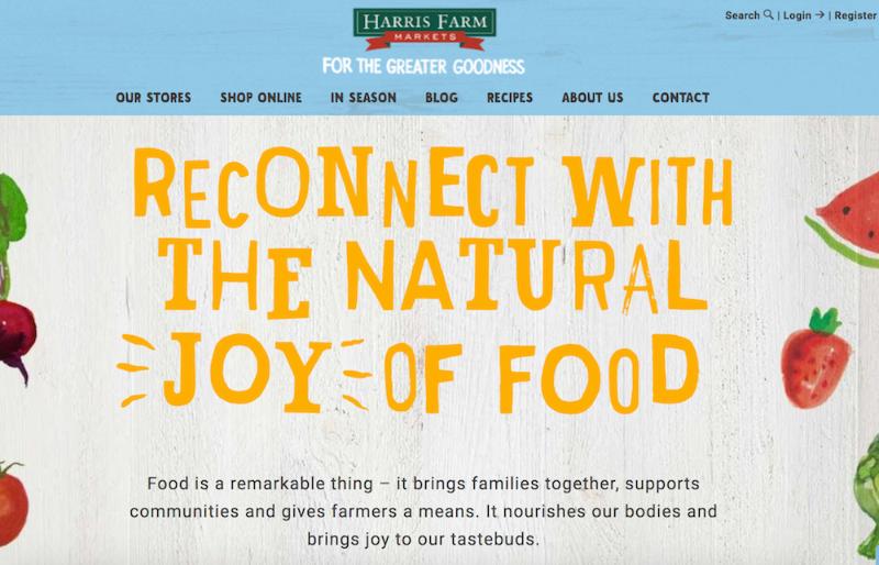 Harris Farm Markets Shopify store