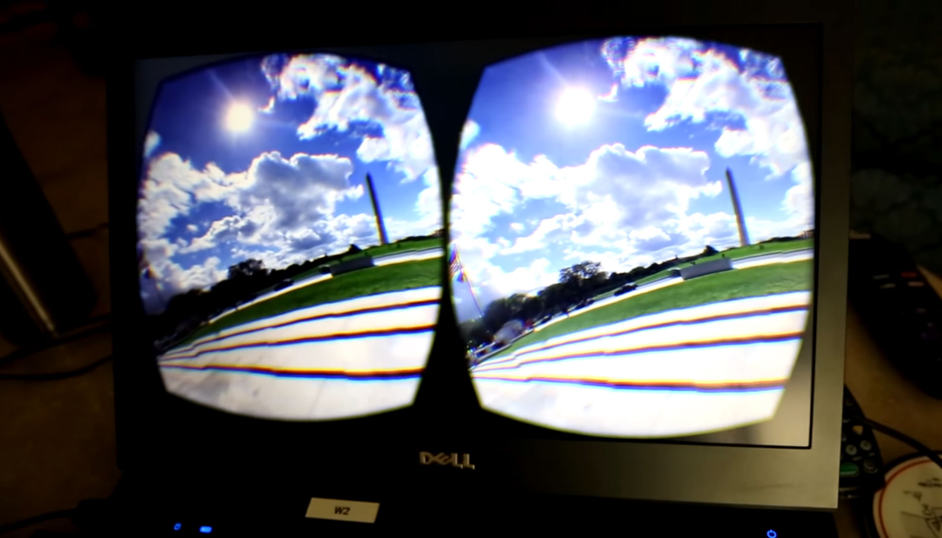 Honor Everywhere VR experience showing the Washington Monument to a military veteran
