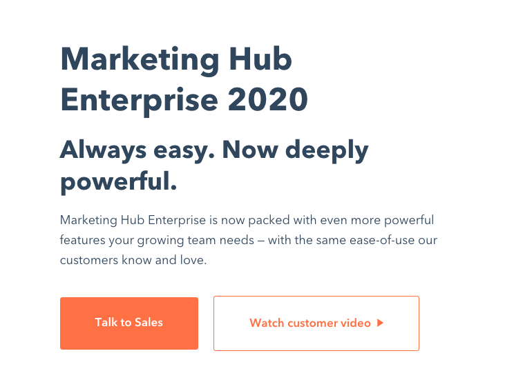 Marketing Hub Enterprise product page
