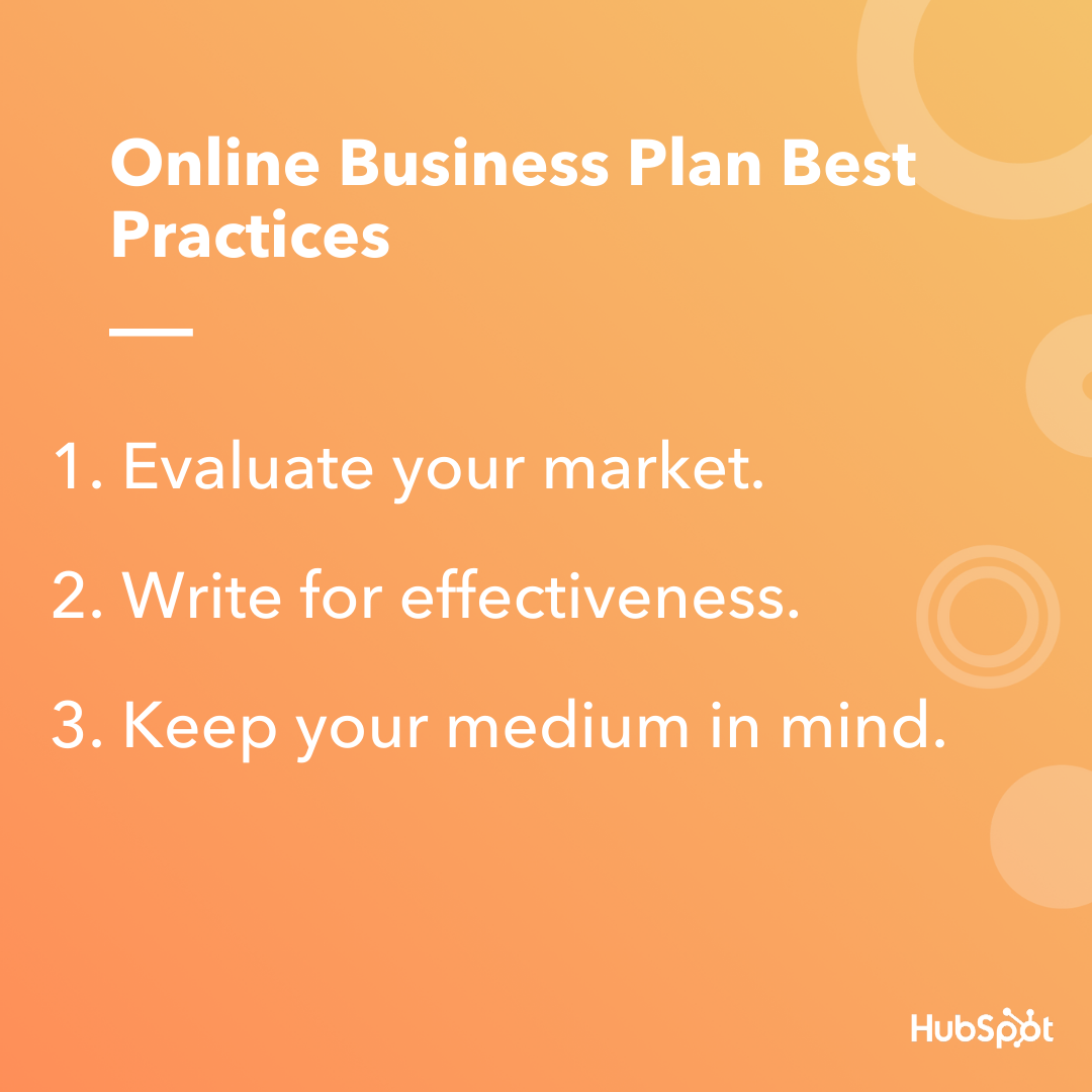 Online business plan best practices