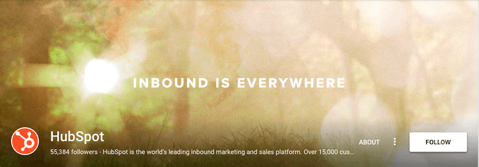 HubSpot's Google+ Business Page