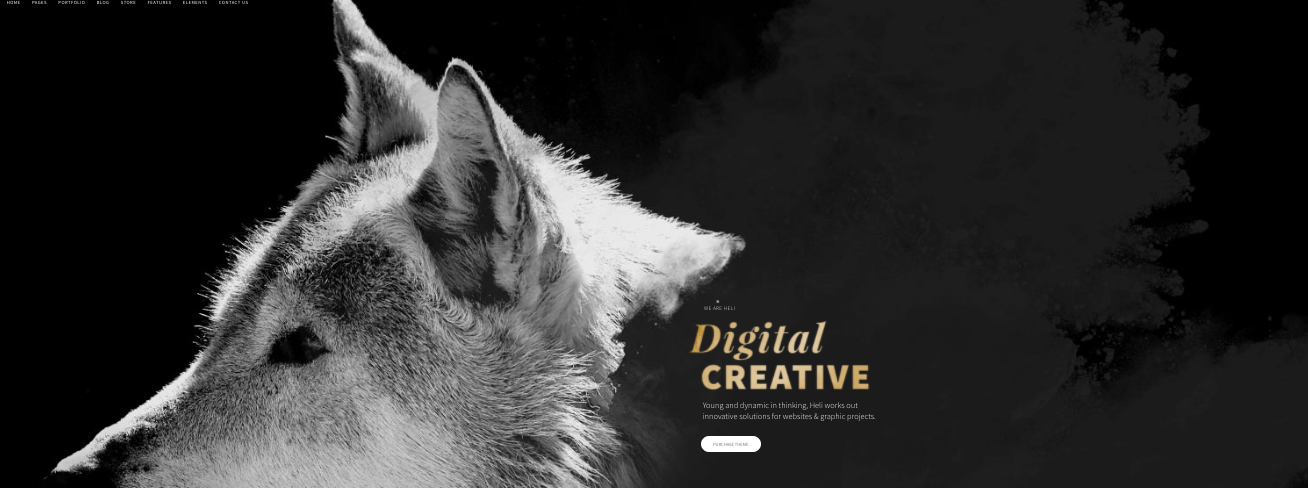 Heli WordPress theme for digital agencies