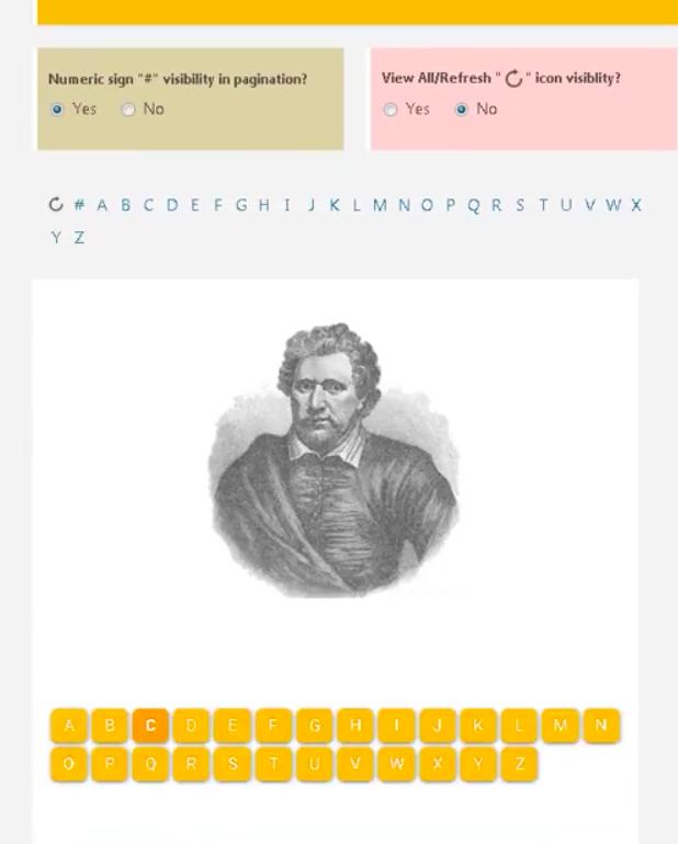 Alphabetic Pagination WordPress plugin