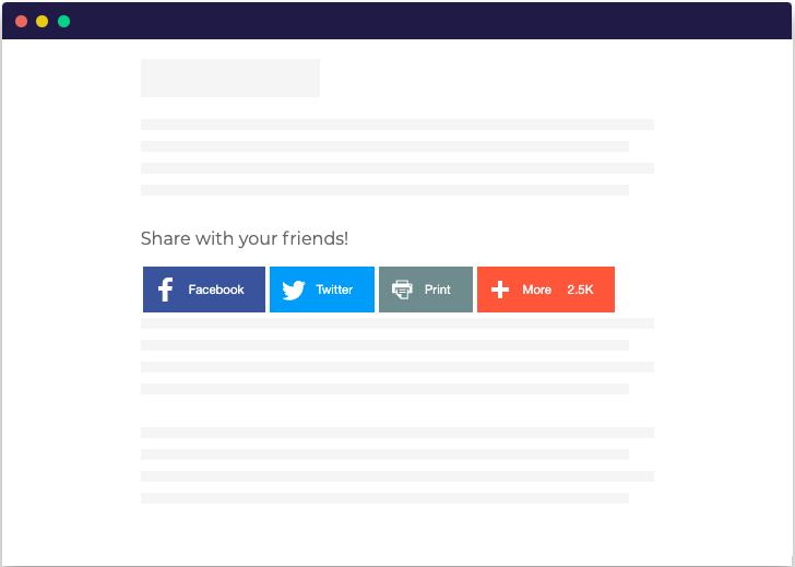 Addthis social sharing widget