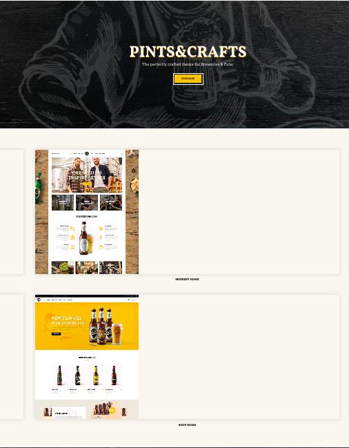 Pints & Crafts WordpRess Theme