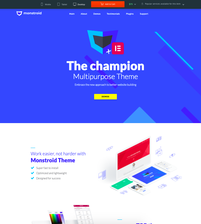 Monstroid-WordPress-theme-full-screen