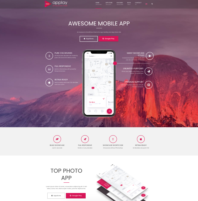 Applay-wordpress-theme-for mobile apps