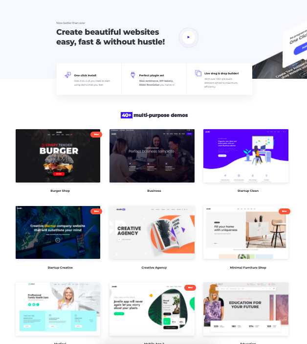 Jevelin-WordPress theme- full screen
