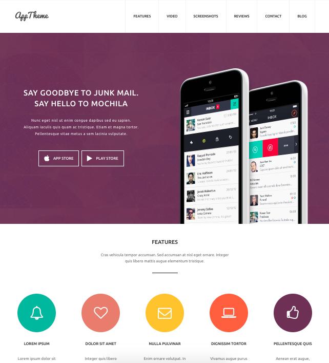 Apptheme-wordpress theme for mobile apps