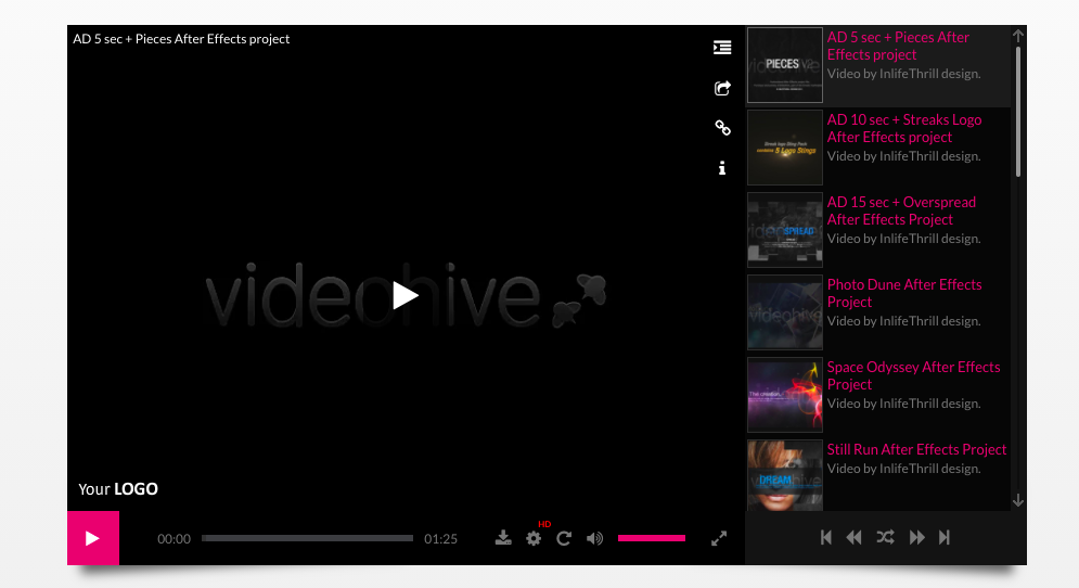 Elite Video Player Wordpress video plugin