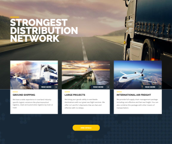 Trucking - WordPress logistics and transportation themes