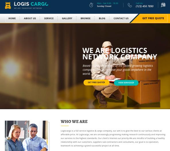 Logis Cargo - Transportation and Logistics wordpress theme