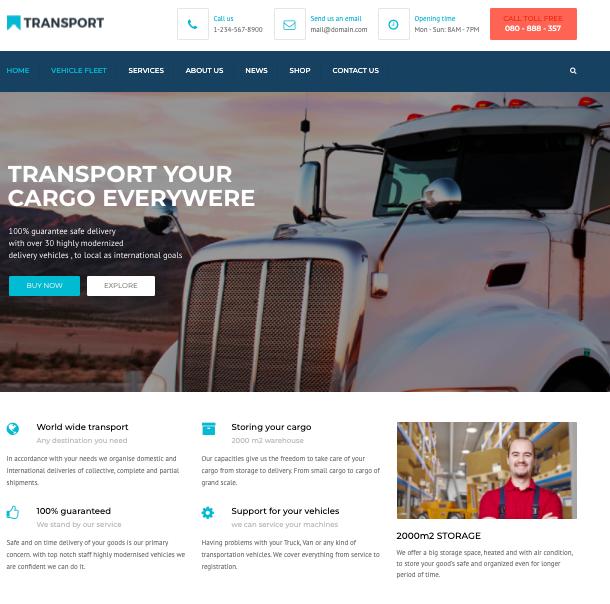 Transport-WordPress transportation Logsitics theme