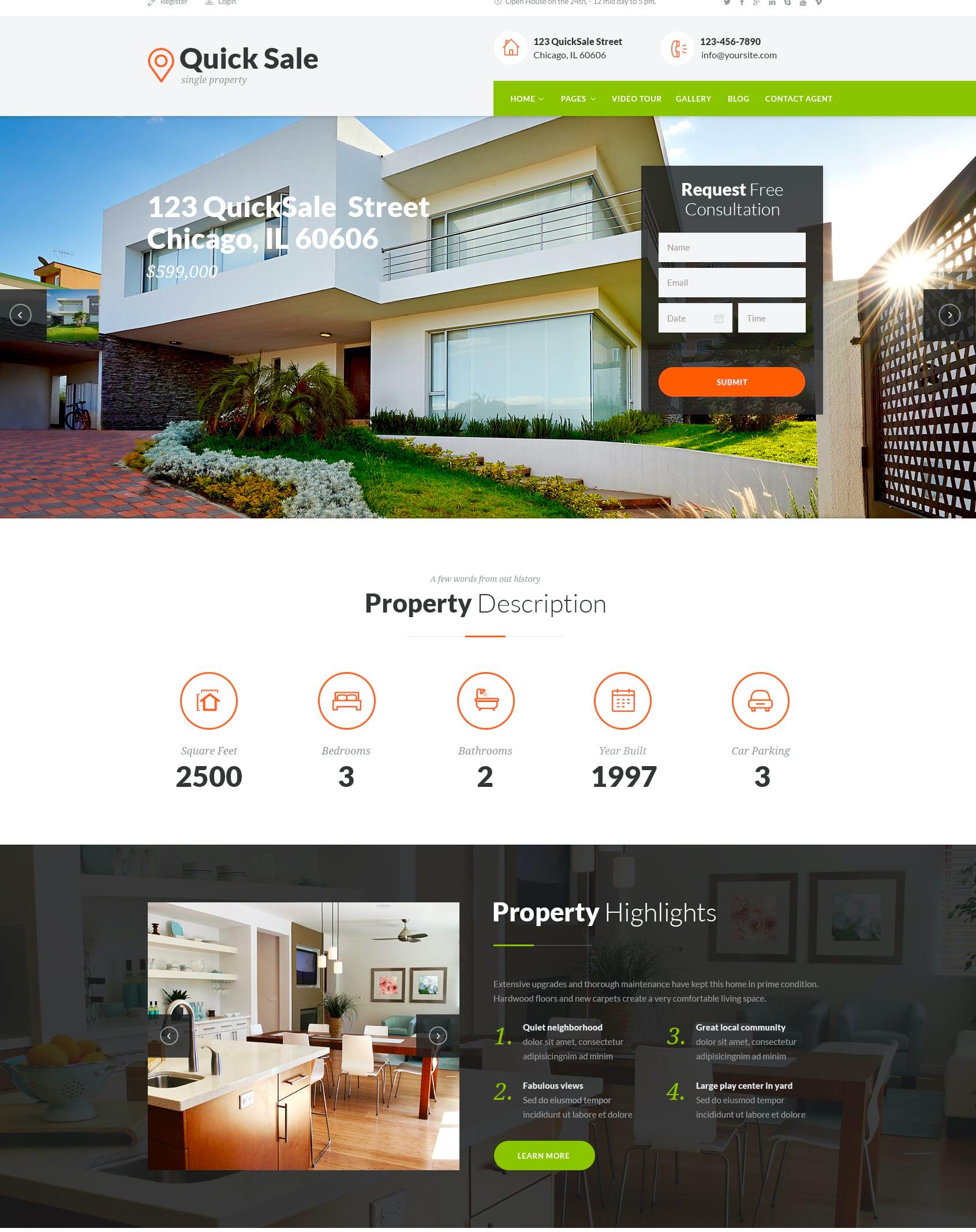 Quick Sale WordPress theme
