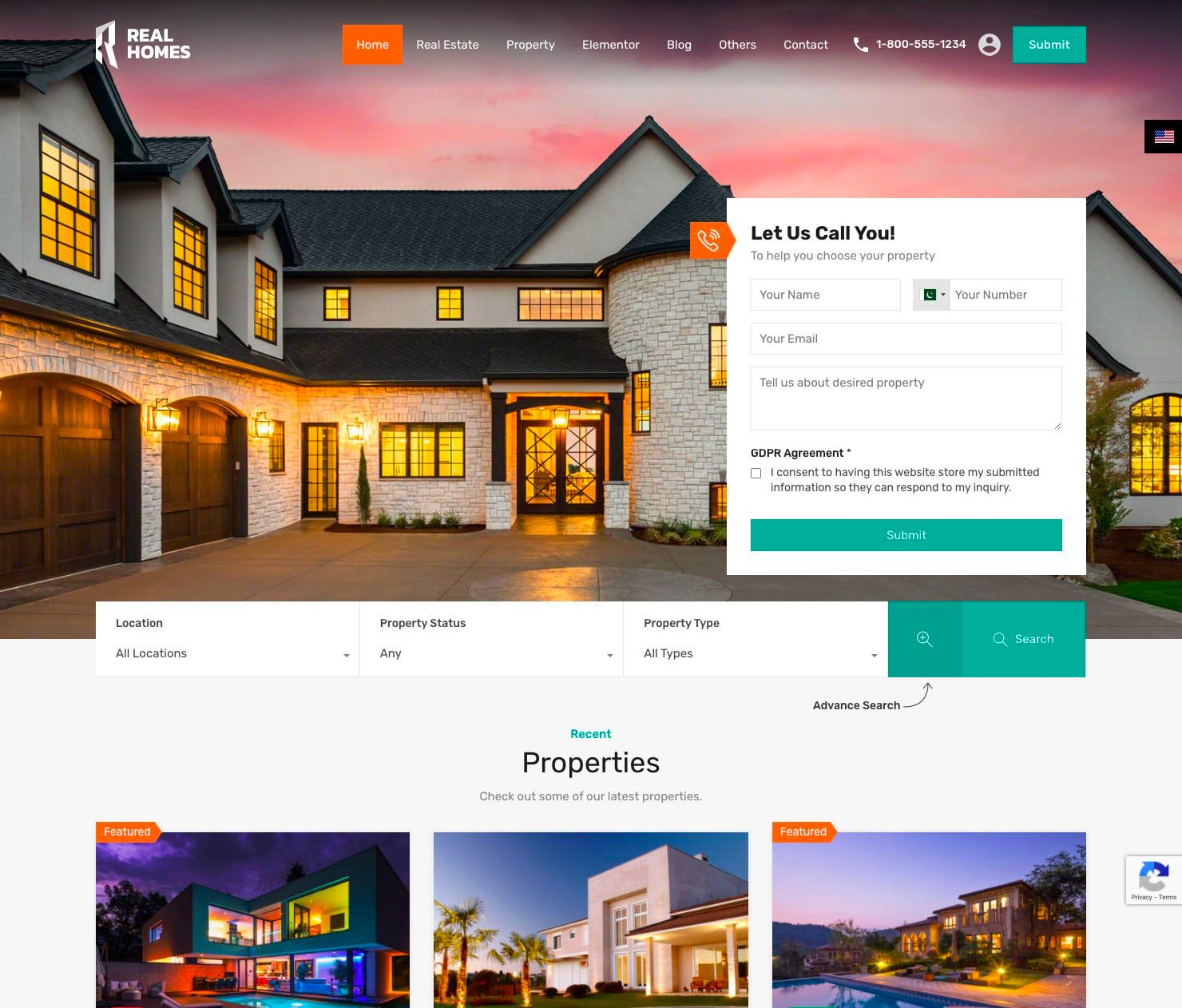 Real Homes Real Estate WordPress themes