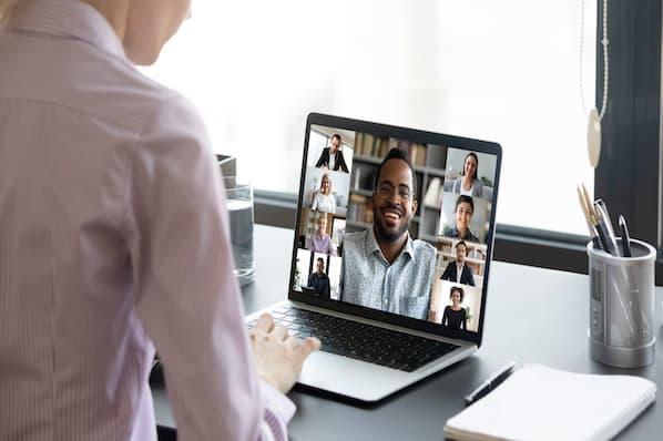 sales team reviews performance data