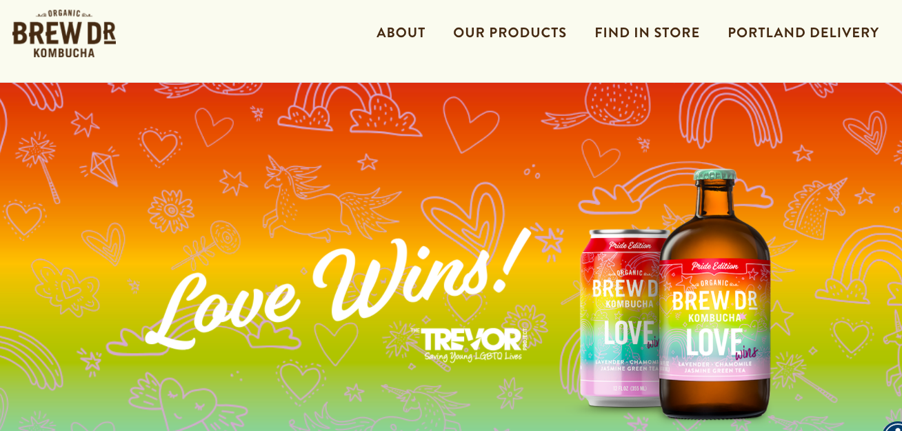 "The ""Love Wins"" campaign for Brew Dr."
