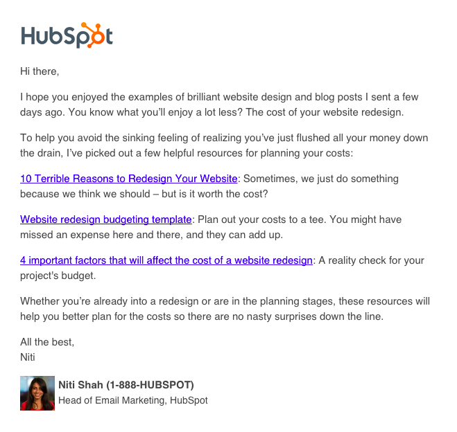 12 different types of marketing email you could be sending lead nurturing email hubspotg pronofoot35fo Image collections