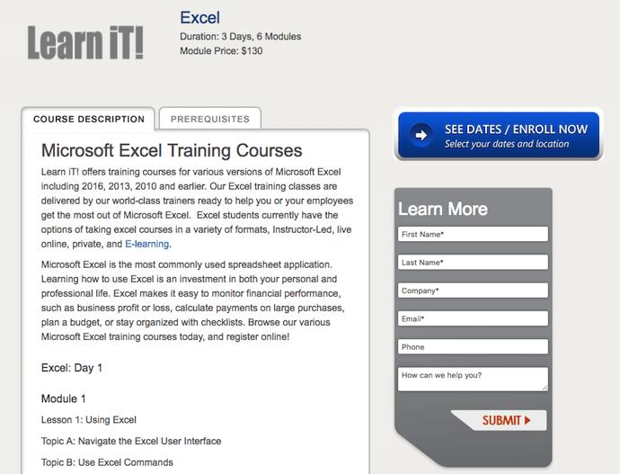 學習iT!  Excel培訓課程介紹