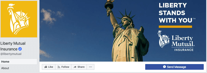 liberty mutual's right-aligned facebook cover photo