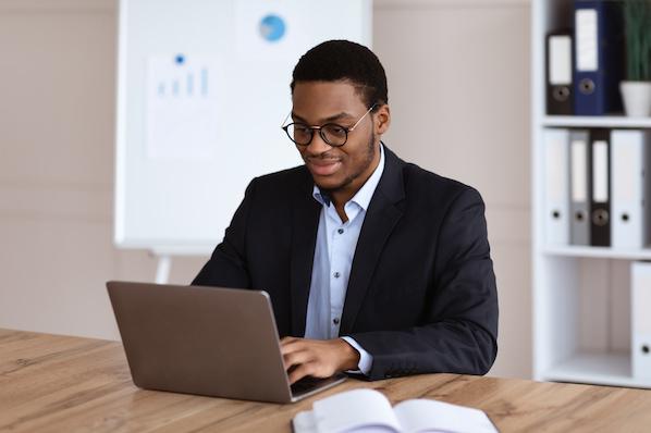 Marketer writing a marketing case study