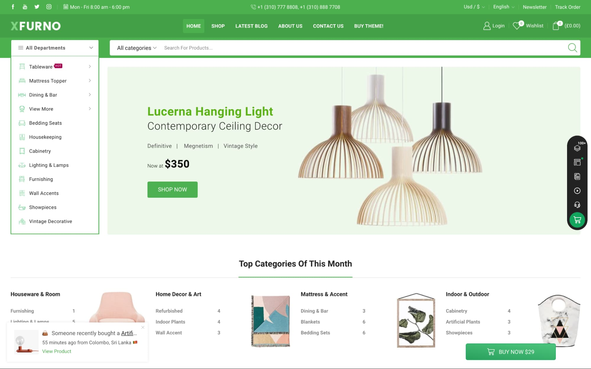 demo page for the marketplace wordpress theme xstore