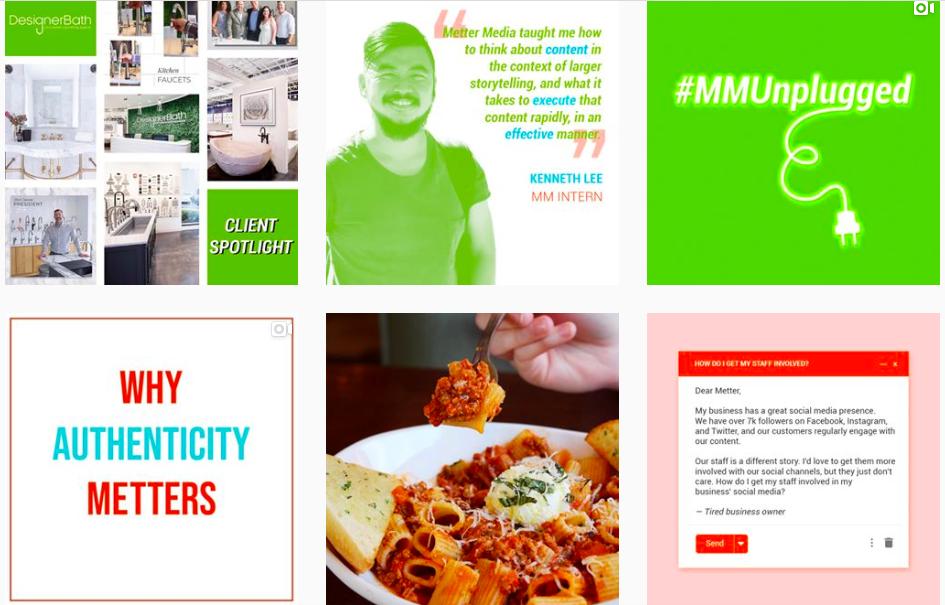 Metter Media branding example
