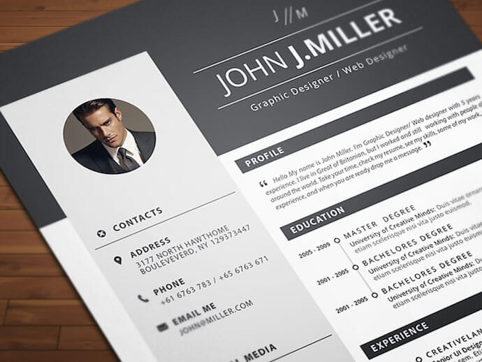 Neat and Confident resume template for MS Word