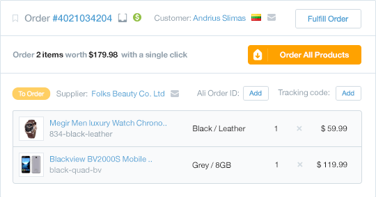 Oberlo inventory management software