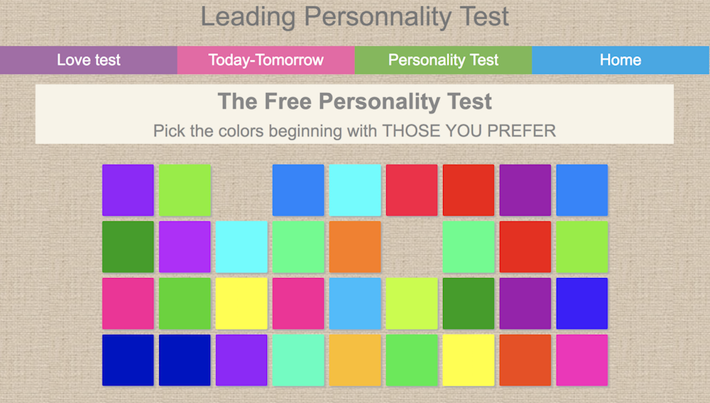 graphic about 4 Color Personality Test Printable named 14 Cost-free Identity Checks Oneself Can Get On-line Currently